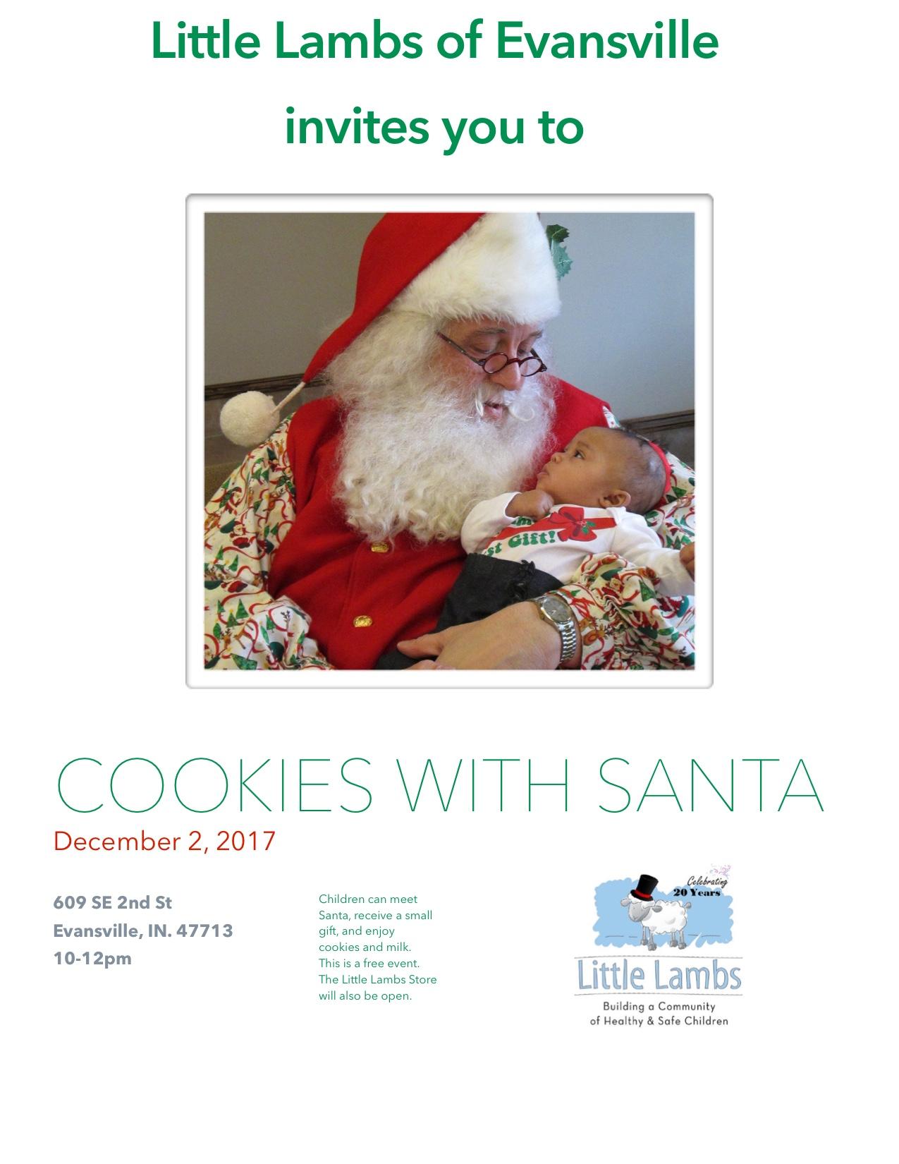 Cookies With Santa Invite